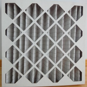 Paper frame primary effect plate air filter