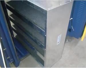 Fût en métal multi-couches « V » filtre à charbon actif avec un grand volume d'air